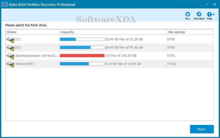 iData RAW Partition Recovery