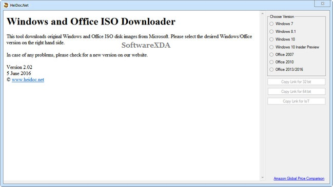 Microsoft Windows and Office ISO Download Tool
