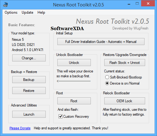 Nexus Root Toolki