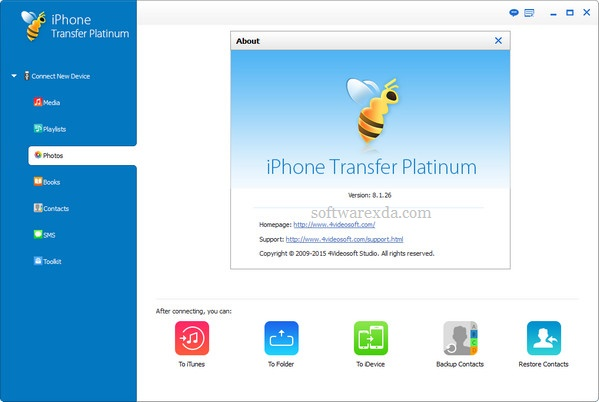 4Videosoft iPhone Transfer Platinum