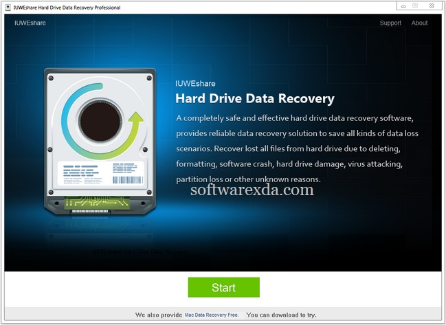 IUWEshare Hard Drive Data Recovery Professional