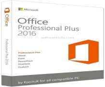 Microsoft Office Professional Plus 2016.
